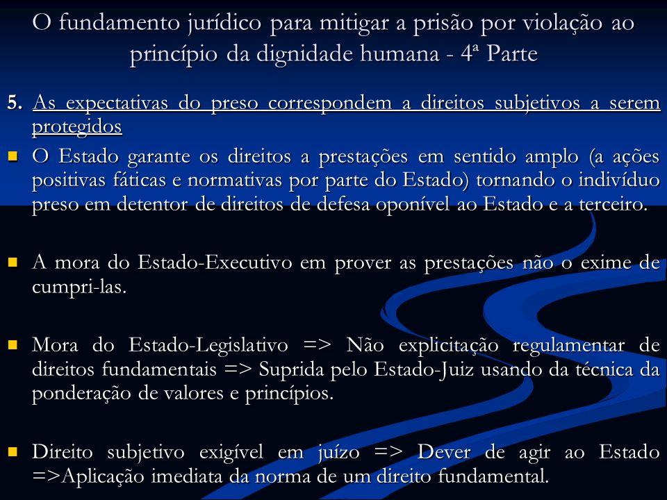 O fundamento jurídico para mitigar a prisão por violação ao princípio da dignidade humana - 4ª Parte