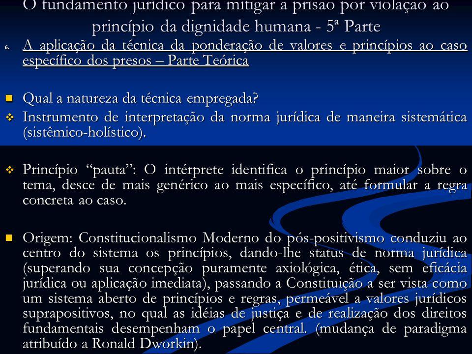 O fundamento jurídico para mitigar a prisão por violação ao princípio da dignidade humana - 5ª Parte