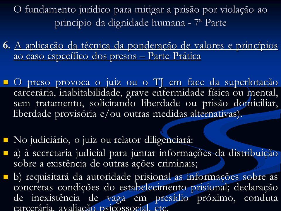 O fundamento jurídico para mitigar a prisão por violação ao princípio da dignidade humana - 7ª Parte