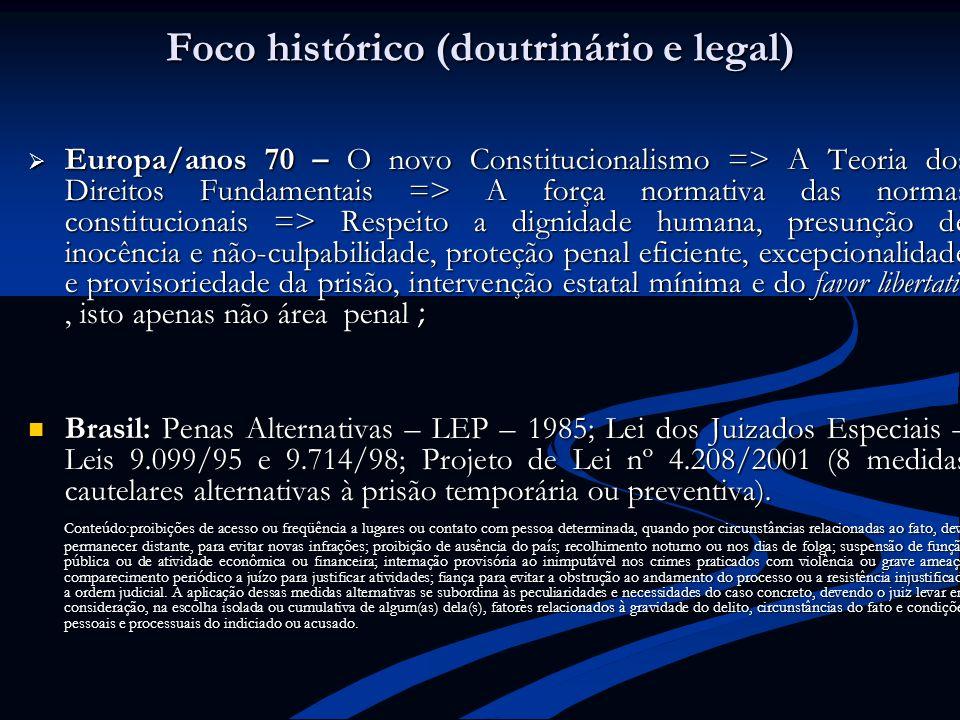 Foco histórico (doutrinário e legal)