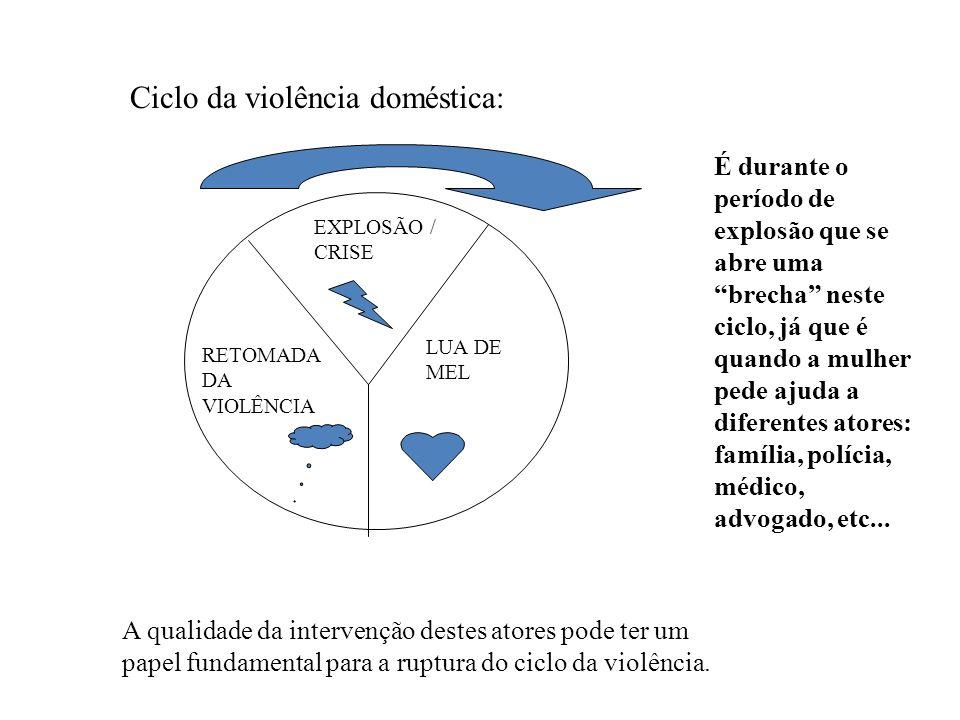 Ciclo da violência doméstica: