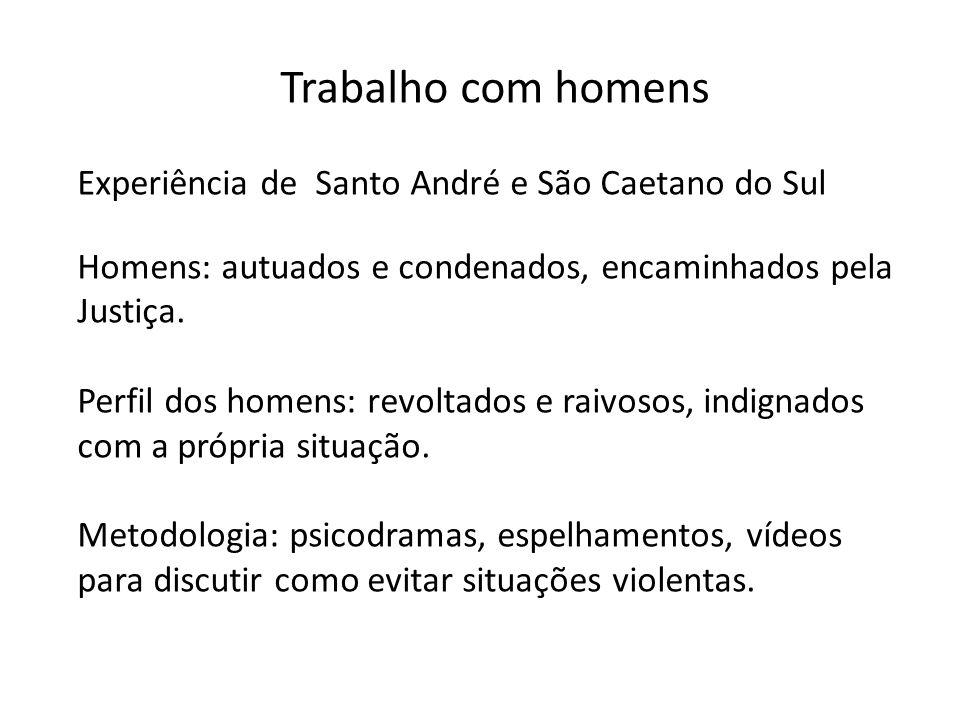 Trabalho com homens Experiência de Santo André e São Caetano do Sul