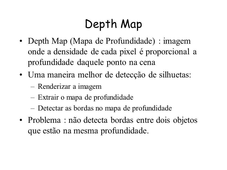 Depth Map Depth Map (Mapa de Profundidade) : imagem onde a densidade de cada pixel é proporcional a profundidade daquele ponto na cena.