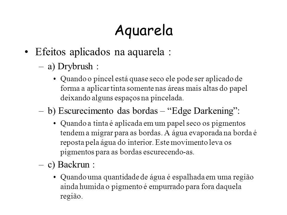 Aquarela Efeitos aplicados na aquarela : a) Drybrush :
