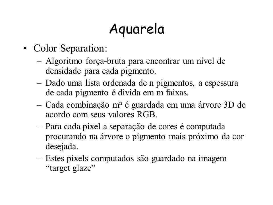 Aquarela Color Separation: