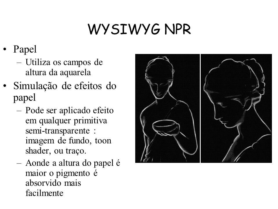 WYSIWYG NPR Papel Simulação de efeitos do papel