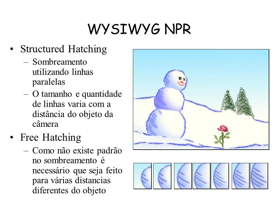 WYSIWYG NPR Structured Hatching Free Hatching
