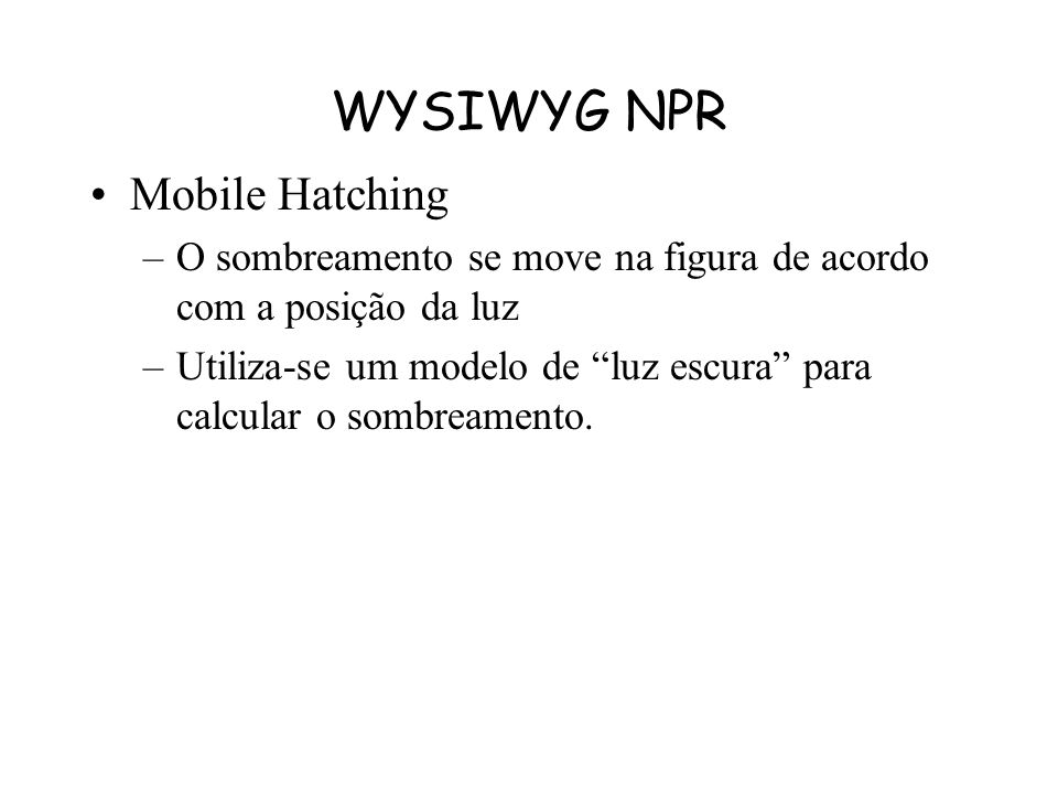 WYSIWYG NPR Mobile Hatching