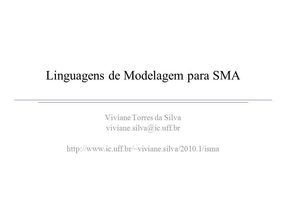 Linguagens de Modelagem para SMA