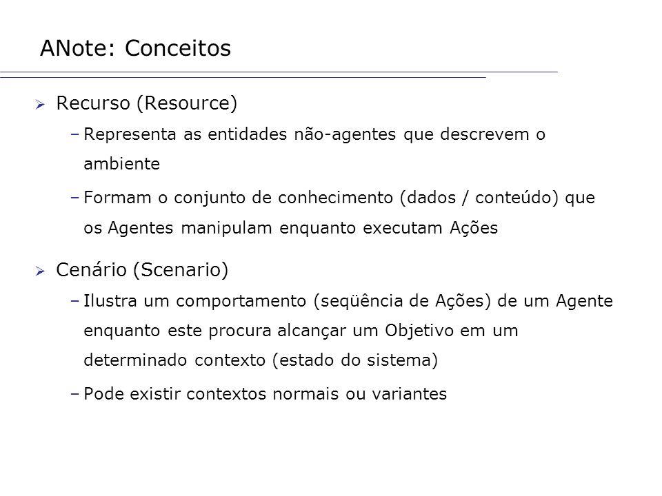 ANote: Conceitos Recurso (Resource) Cenário (Scenario)