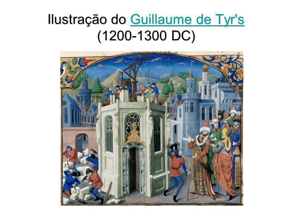 Ilustração do Guillaume de Tyr s (1200-1300 DC)