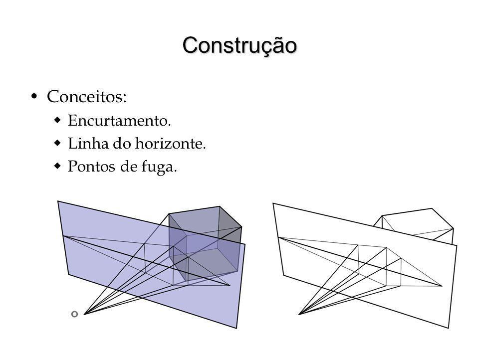 Construção Conceitos: Encurtamento. Linha do horizonte.