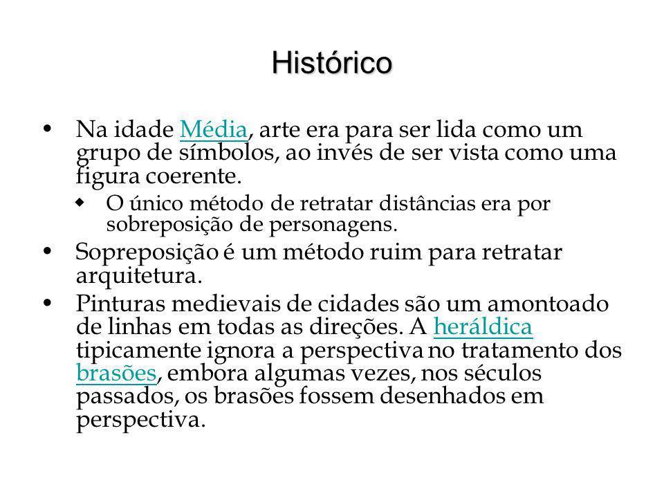Histórico Na idade Média, arte era para ser lida como um grupo de símbolos, ao invés de ser vista como uma figura coerente.