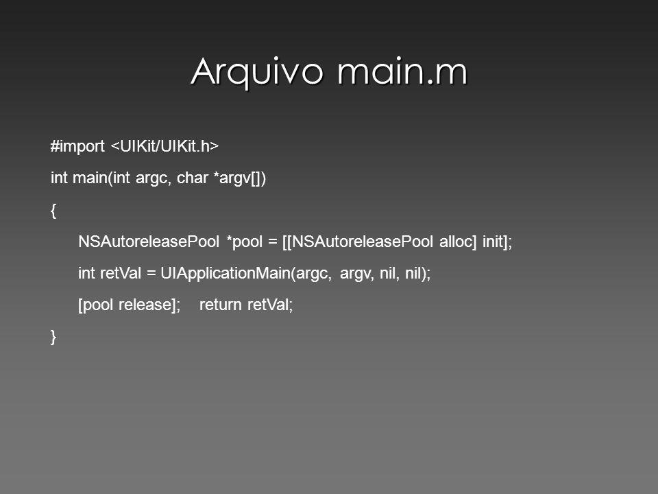 Arquivo main.m #import <UIKit/UIKit.h>