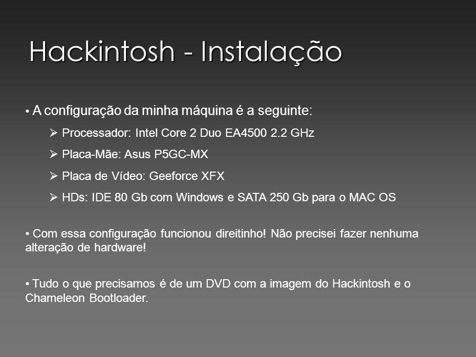 Hackintosh - Instalação