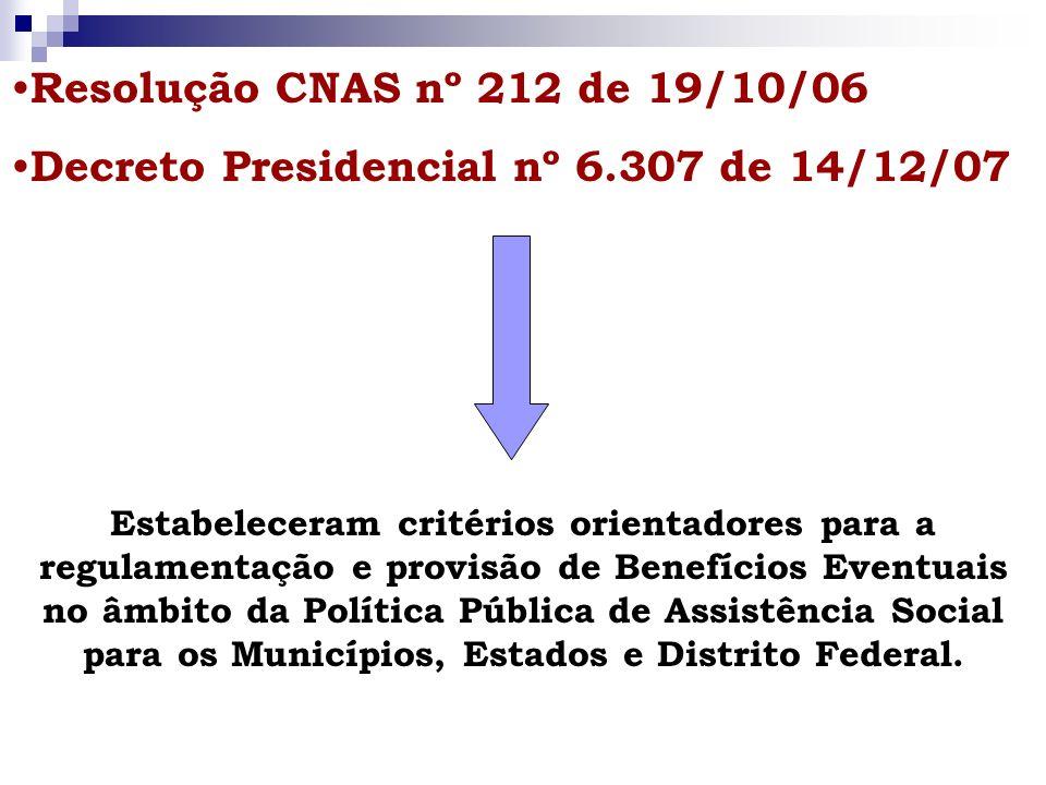 Decreto Presidencial nº 6.307 de 14/12/07