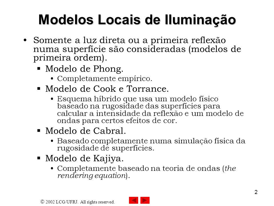 Modelos Locais de Iluminação