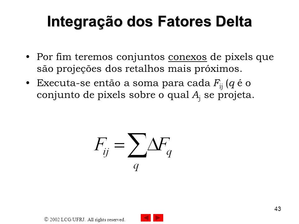 Integração dos Fatores Delta