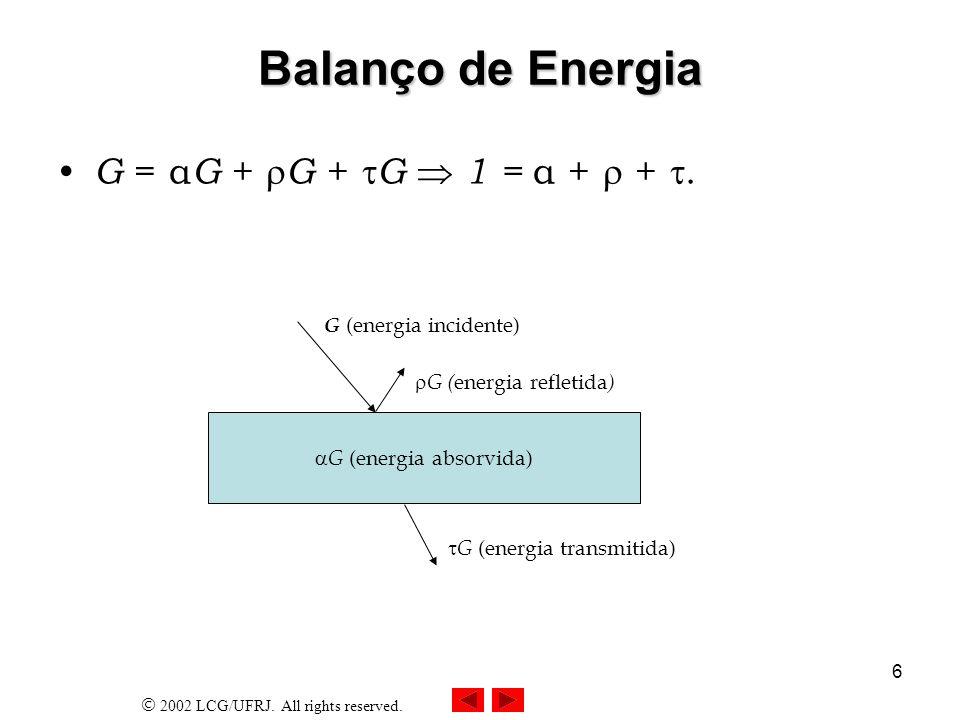 G (energia absorvida)