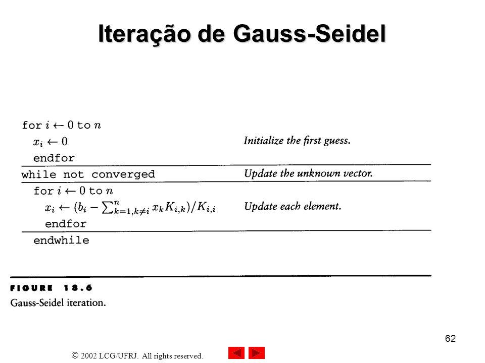 Iteração de Gauss-Seidel