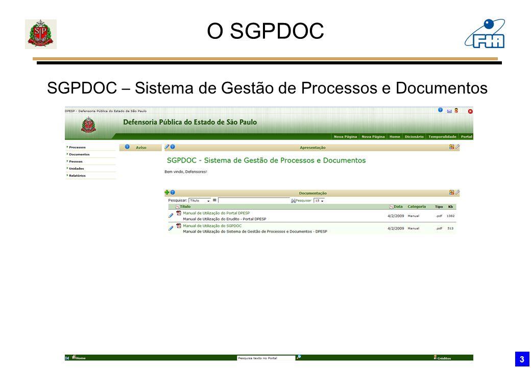 O SGPDOC SGPDOC – Sistema de Gestão de Processos e Documentos 3
