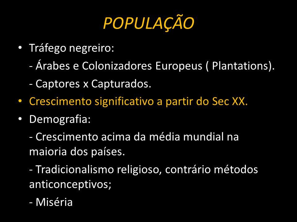 POPULAÇÃO Tráfego negreiro: