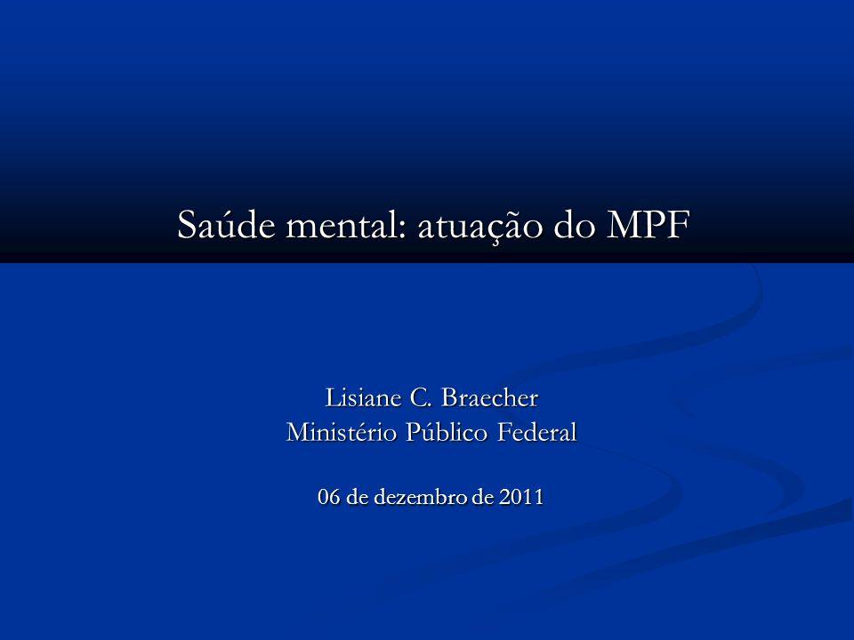 Saúde mental: atuação do MPF