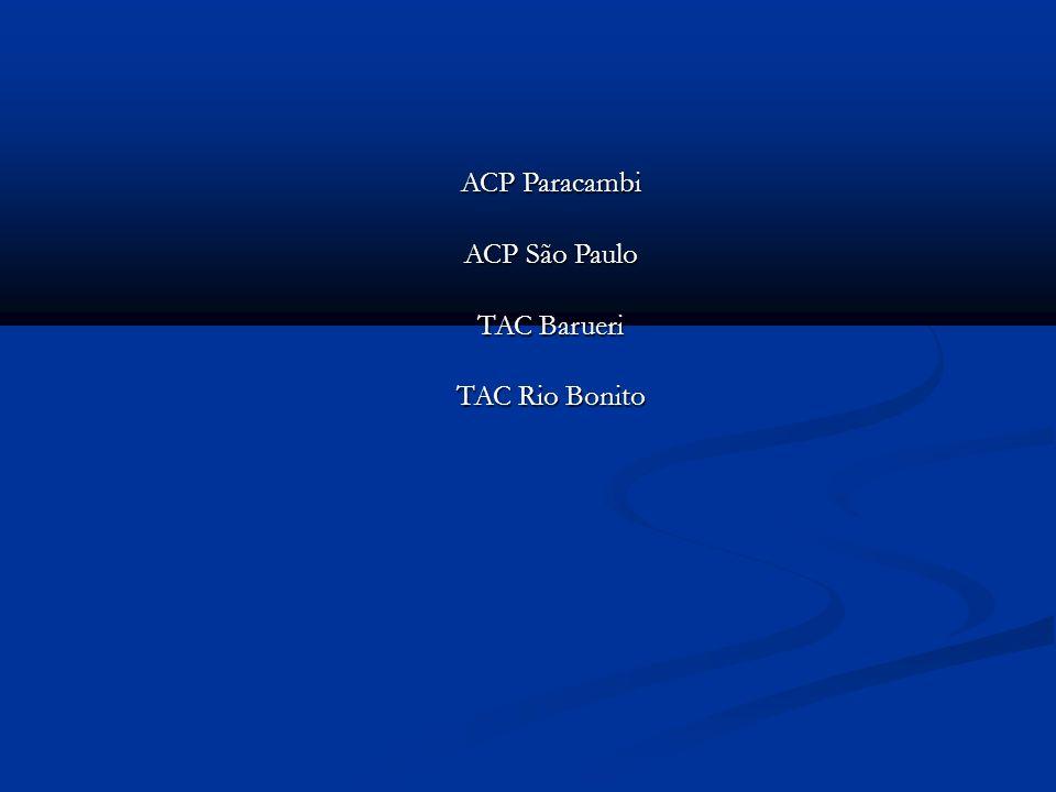 ACP Paracambi ACP São Paulo TAC Barueri TAC Rio Bonito