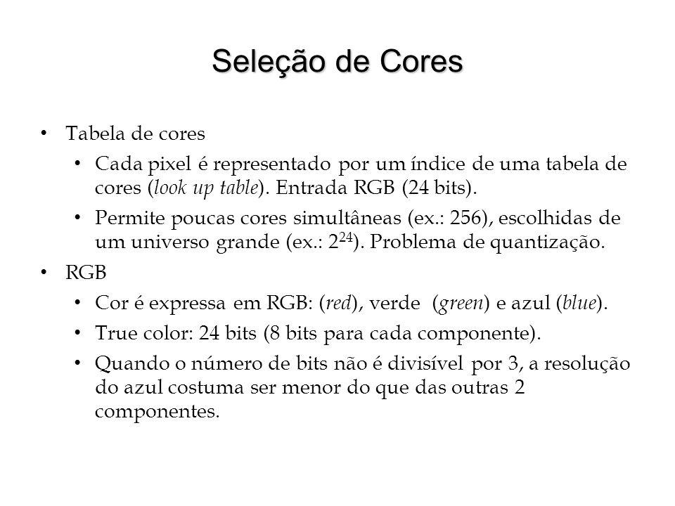 Seleção de Cores Tabela de cores