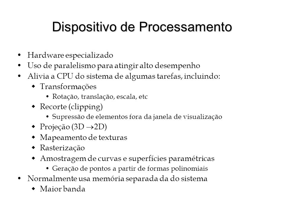 Dispositivo de Processamento