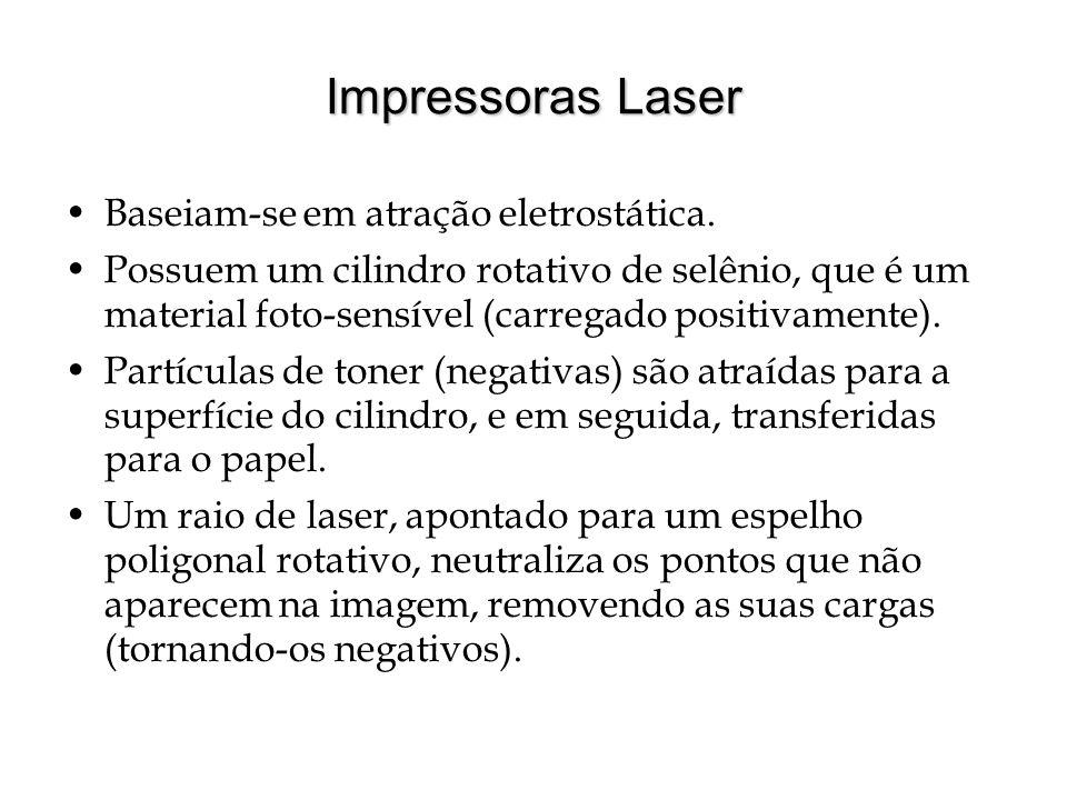Impressoras Laser Baseiam-se em atração eletrostática.