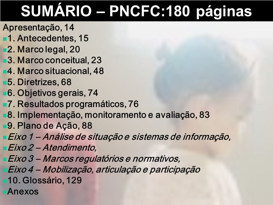 SUMÁRIO – PNCFC:180 páginas