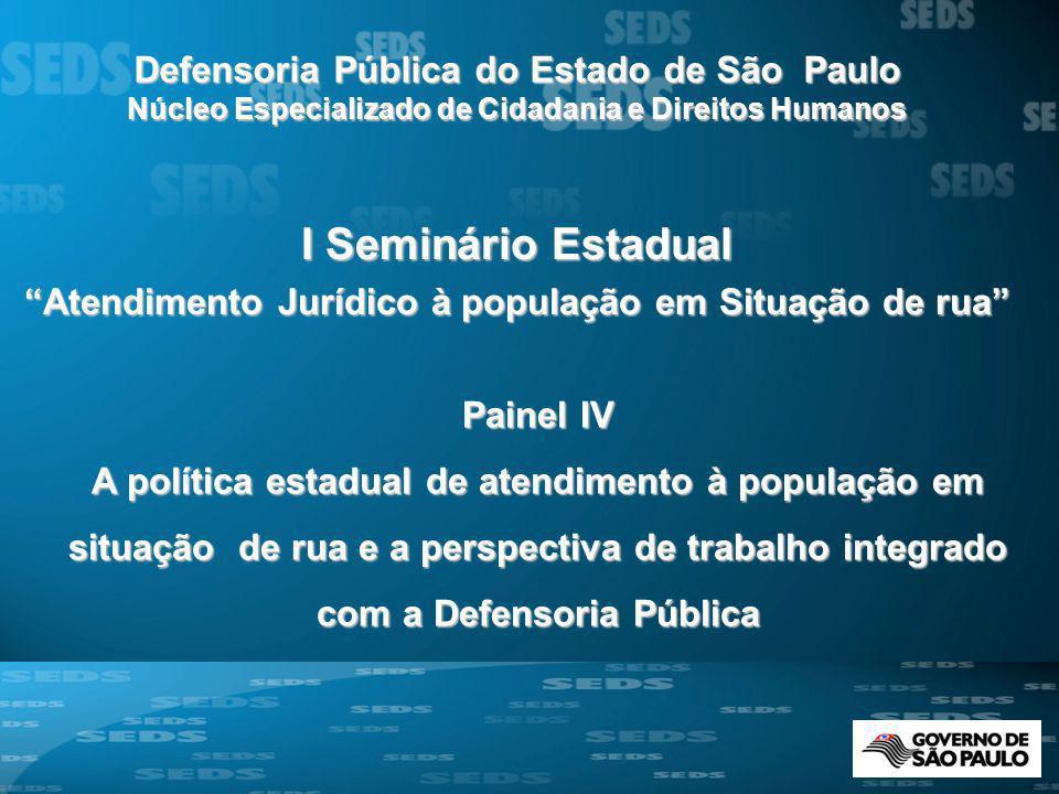 I Seminário Estadual Defensoria Pública do Estado de São Paulo