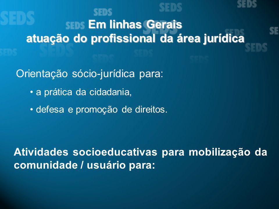 atuação do profissional da área jurídica