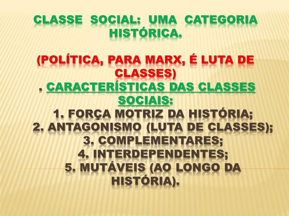 Classe Social: uma categoria histórica