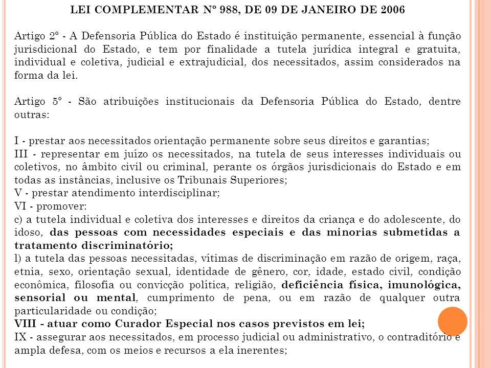 LEI COMPLEMENTAR Nº 988, DE 09 DE JANEIRO DE 2006