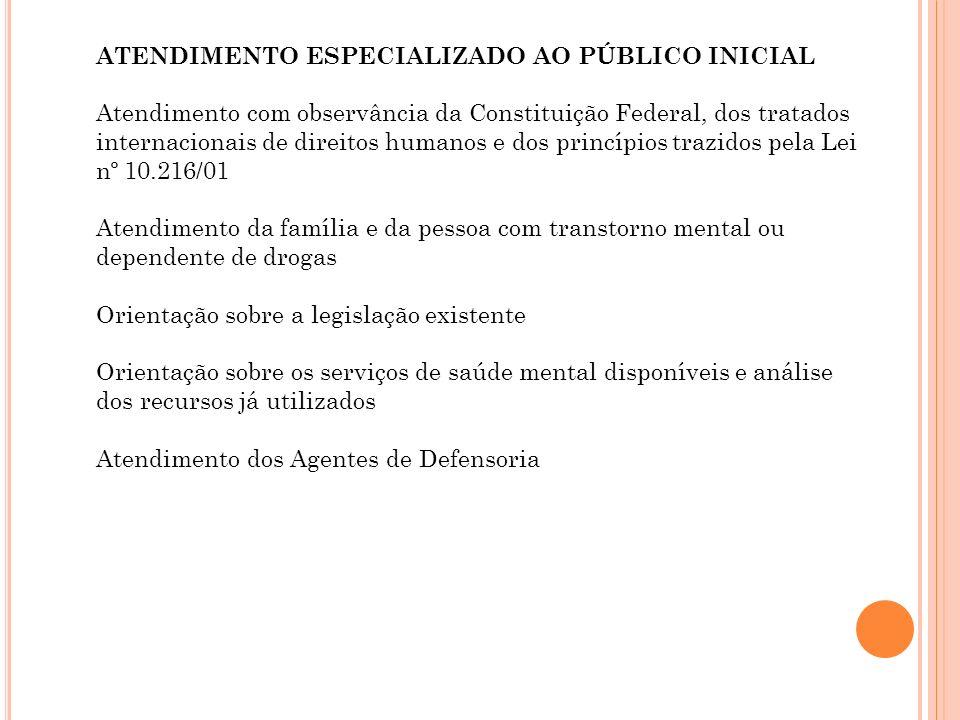 ATENDIMENTO ESPECIALIZADO AO PÚBLICO INICIAL