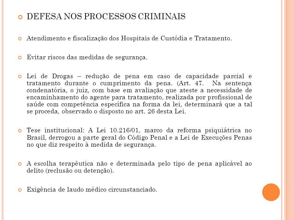 DEFESA NOS PROCESSOS CRIMINAIS