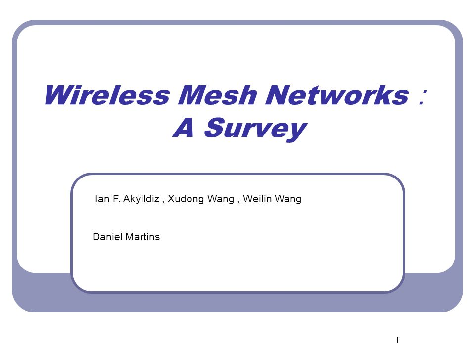 Wireless Mesh Networks: A Survey