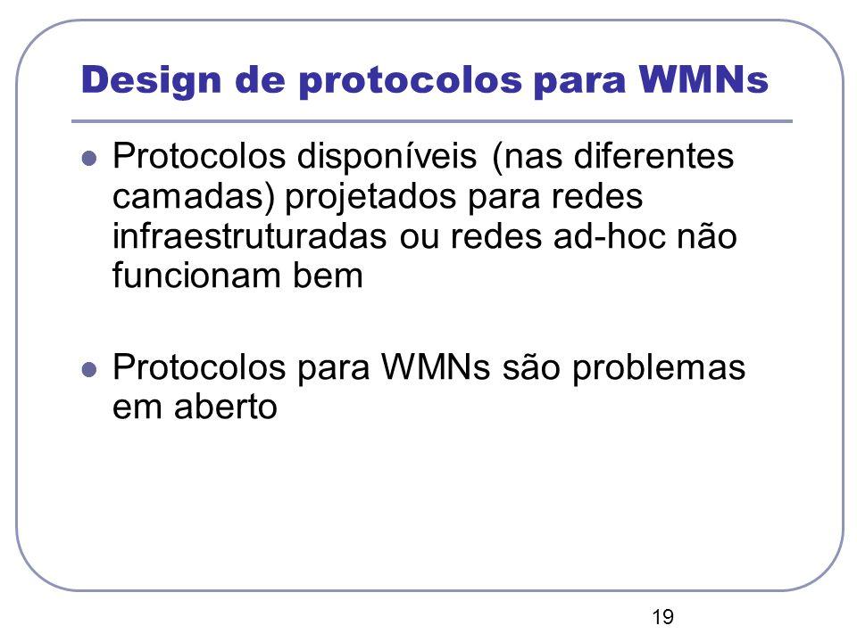 Design de protocolos para WMNs