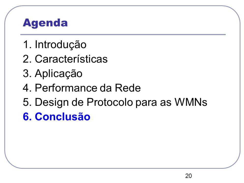 5. Design de Protocolo para as WMNs 6. Conclusão