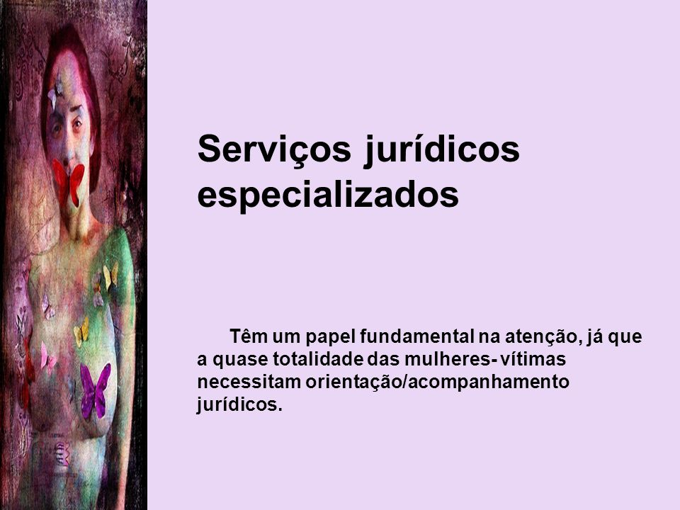 Serviços jurídicos especializados