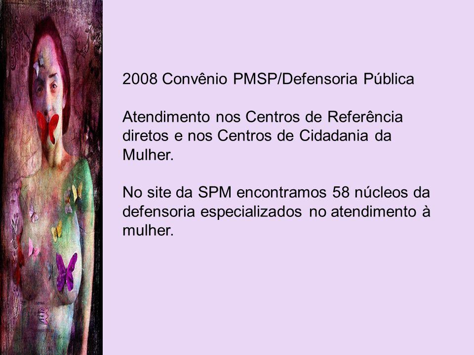 2008 Convênio PMSP/Defensoria Pública