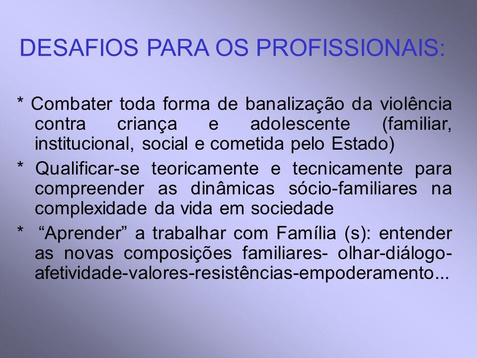 DESAFIOS PARA OS PROFISSIONAIS: