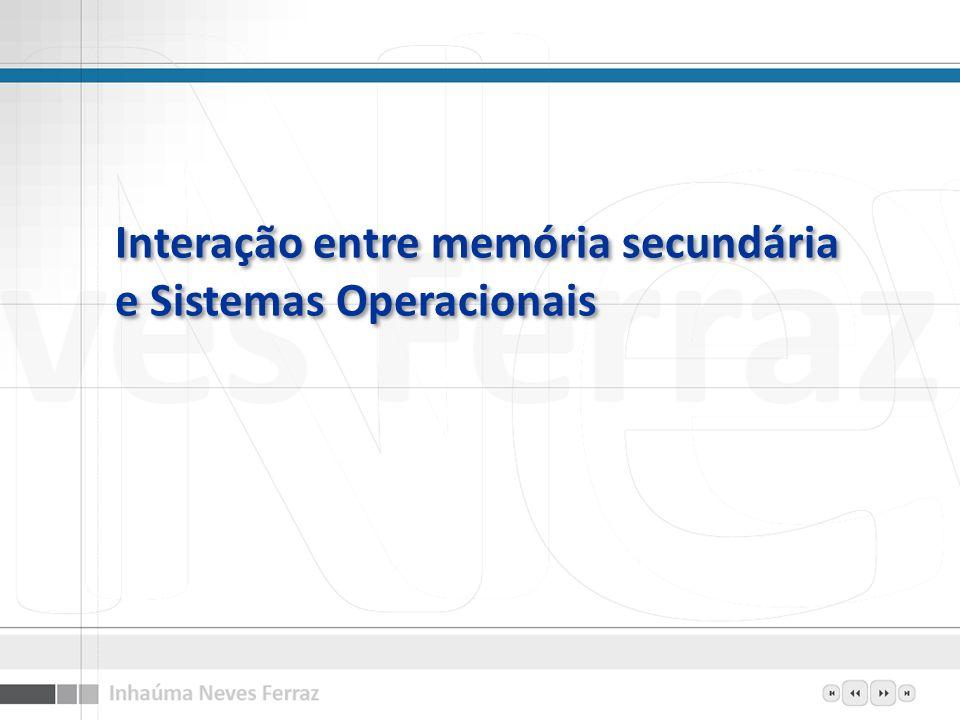 Interação entre memória secundária e Sistemas Operacionais