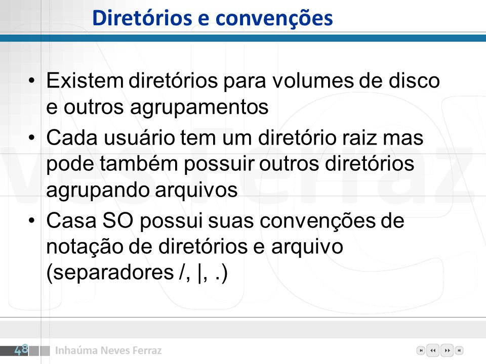 Diretórios e convenções