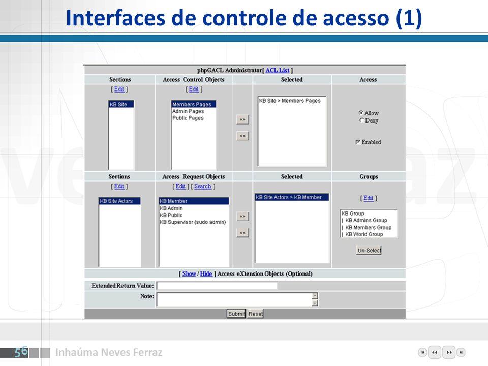 Interfaces de controle de acesso (1)