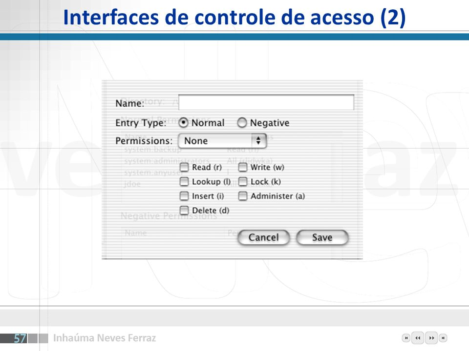 Interfaces de controle de acesso (2)