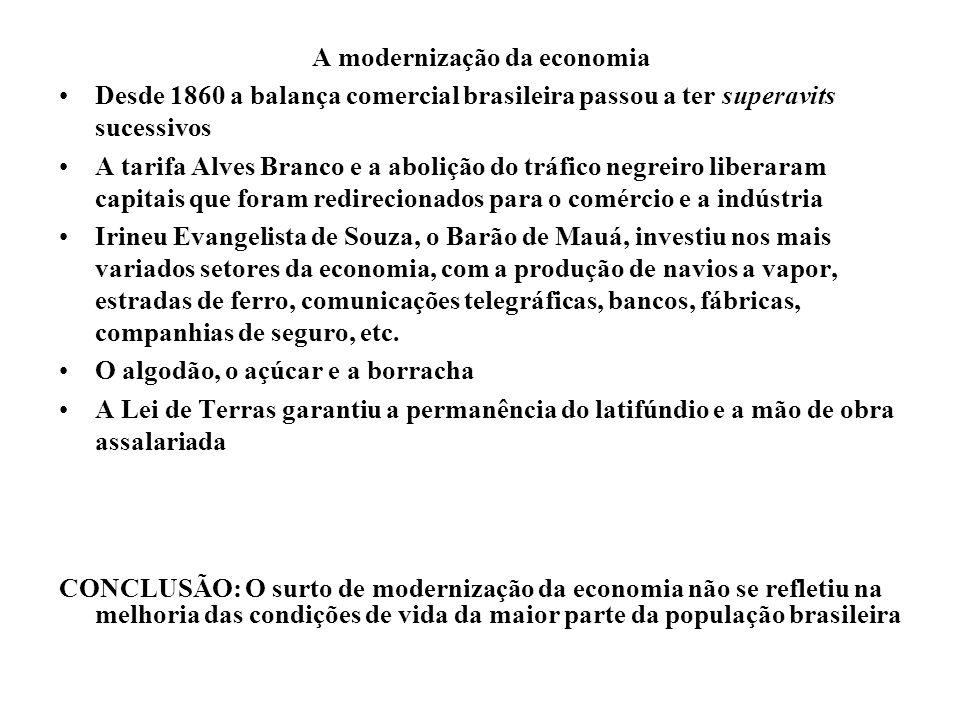 A modernização da economia