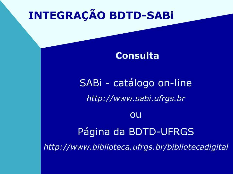 SABi - catálogo on-line